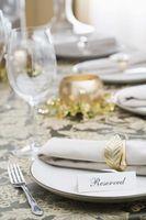 La etiqueta de la boda para Catering