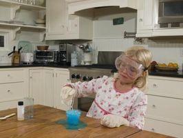 Ciencia Feria de Proyectos con sal, azúcar, bicarbonato, vinagre y aceite de cocina