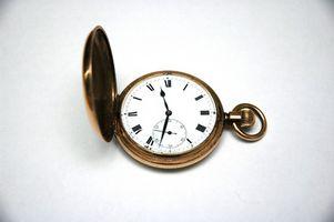 Cómo hasta la fecha un reloj de bolsillo