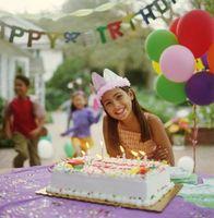 Planificación de una fiesta de cumpleaños para una niña de 13 años de antigüedad