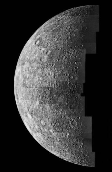 Los hechos planeta Mercurio