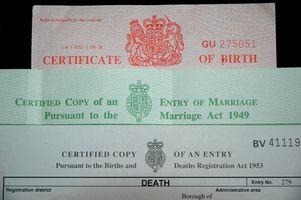 Gobierno Información del certificado de nacimiento