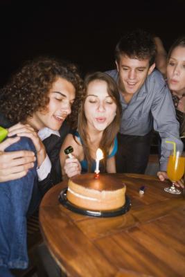 Como una palabra de la torta de cumpleaños