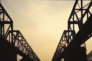 Cinco tipos de puentes con entramado