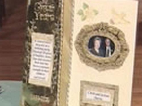 Ideas del libro de memoria para un aniversario de boda 50 º