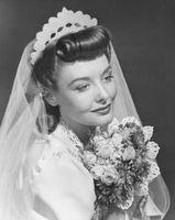 Los peinados de boda 1950