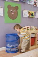 La enseñanza de niños en edad preescolar acerca Tirar basura