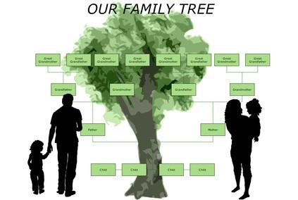 ¿Cómo configurar un marco de foto del árbol de familia