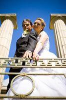 Etiqueta de la boda de la foto