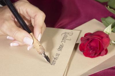 Haciendo caligrafía Tinta De Pintura acrílica