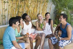 Ideas de la fiesta al aire libre adolescente