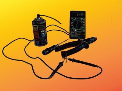 Como prueba de transistores de potencia