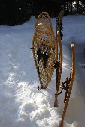 Tipos de enlaces con raquetas de nieve