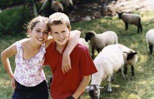 Cómo los niños pueden ayudar en una granja de la familia