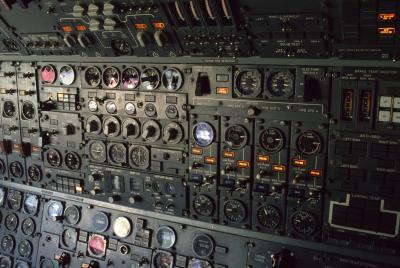 Los instrumentos de aviones en miniatura