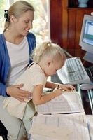 Cómo mantener a los niños pequeños tranquila en la Oficina