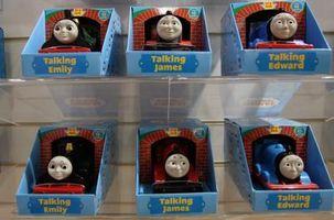 Configuración de las estaciones para un Thomas el partido del tren