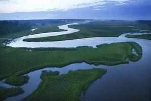 ¿Cómo funciona la erosión sucede a un río?