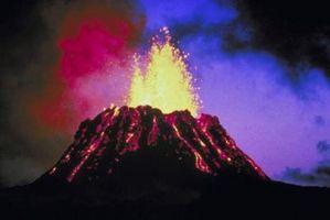 ¿Cómo los terremotos causa de los volcanes entren en erupción?