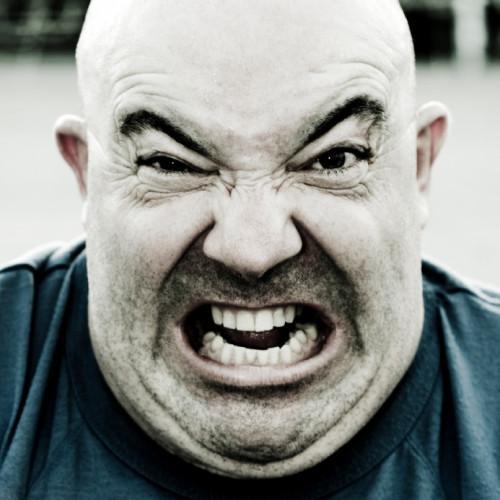 Cómo calmarse Un particular enojado