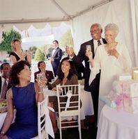 En el hogar ideas de la recepción de la boda